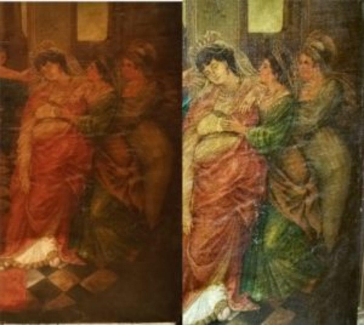 Raking light color painting