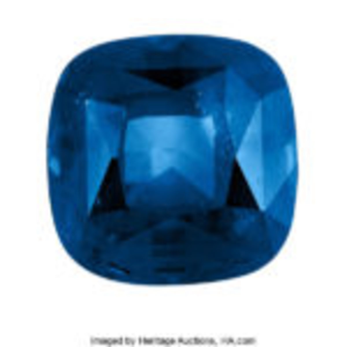 Cushion-cut sapphire, 7.44 carats, GIA Certificate #2185791664, estimate: $20,000-$30,000. Courtesy of Heritage Auctions