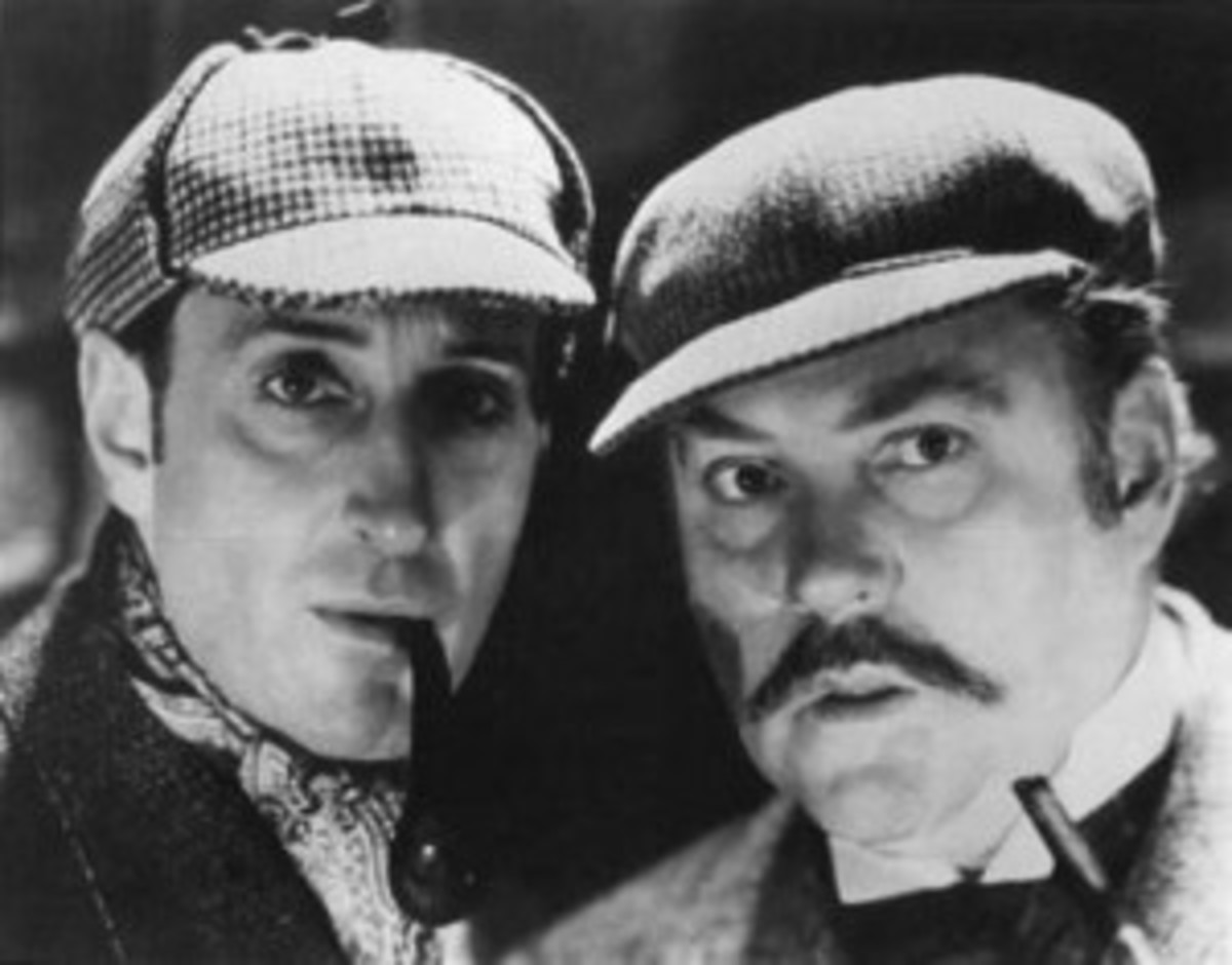 Sherlock Holmes and Dr. Watson on the case.