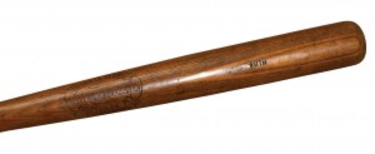 Ruth's rookie bat