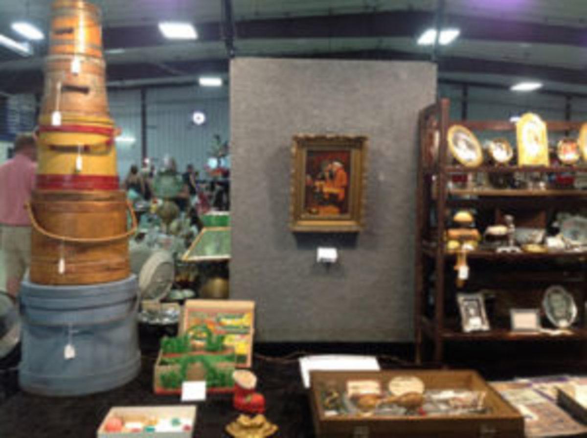 vintage market scene