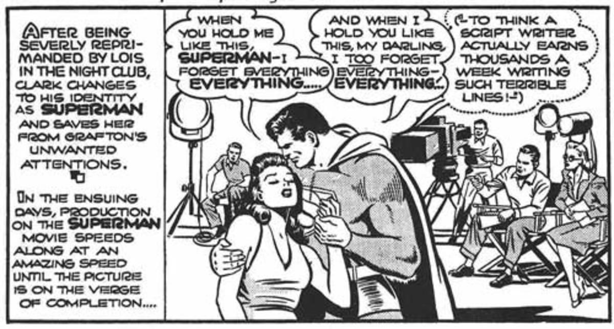 Superman romantic comic strip