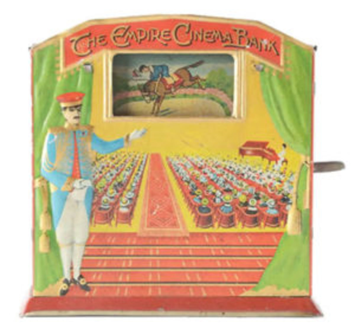A seldom-seen German-made production known as The Empire Cinema, depicting a movie theater, sold $15,990.