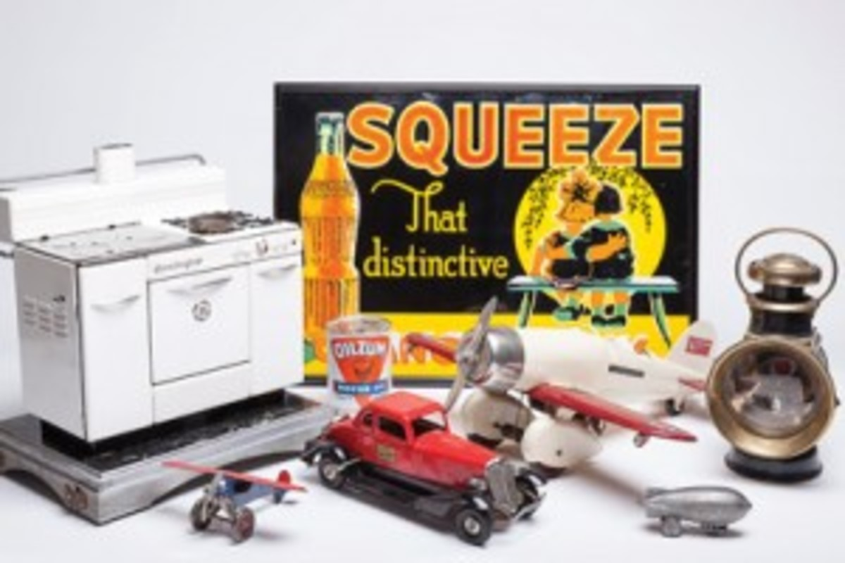 Cast iron toys and advertising