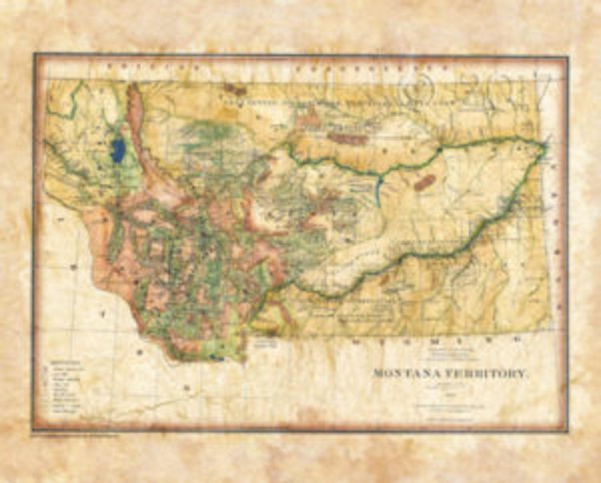 Montana Territory map
