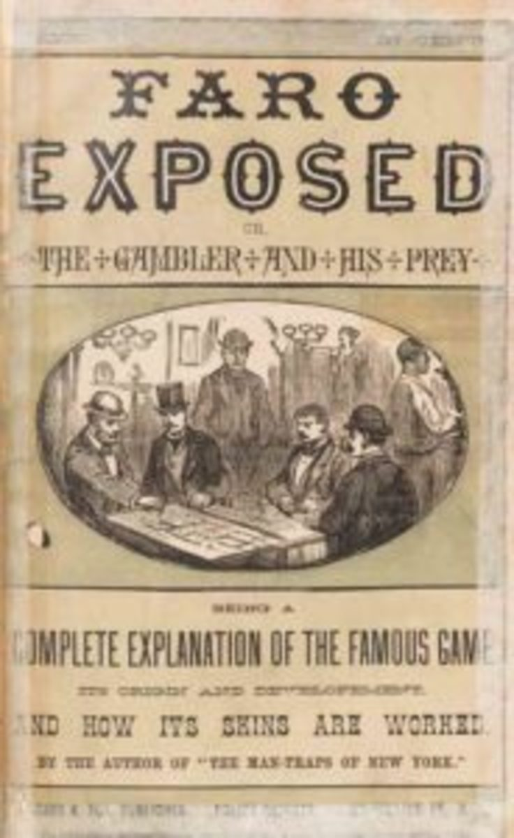 """""""Faro Exposed; or The Gambler and his Prey. Being a Complete Explanation of the Famous Game, its Origin and Development, and how its Skins are Worked,"""" $24,000."""