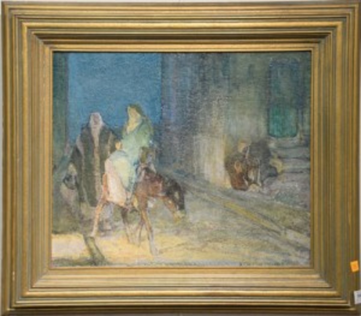 """Flight into Egypt"" realized $84,000. (All photos courtesy Nadeau's Auction Gallery)"