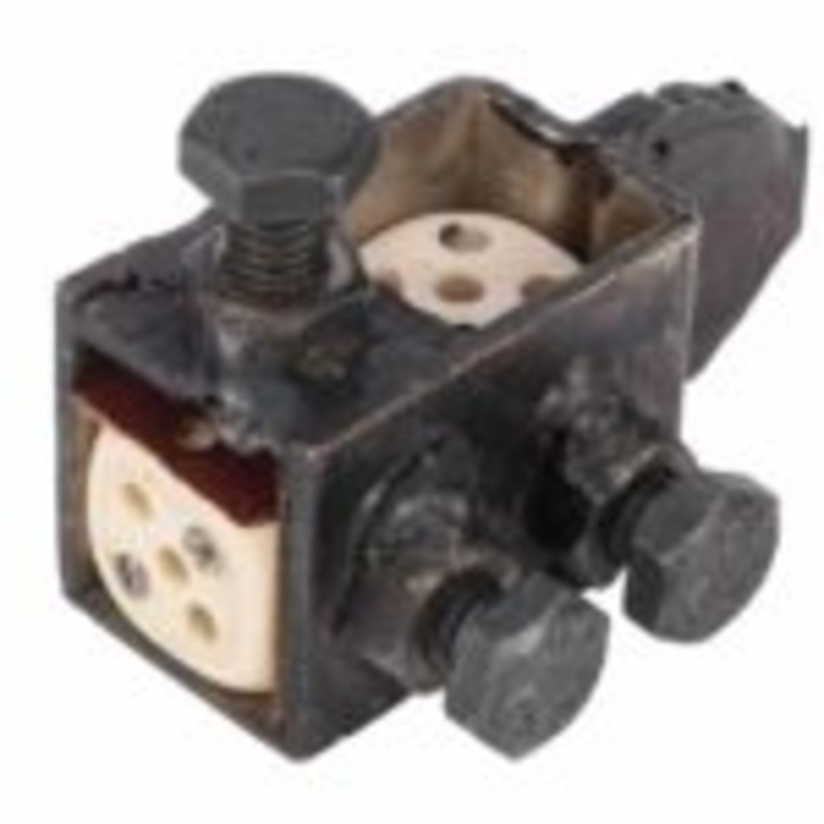 Jig for making crooked dice, with pair of dice, $1,140. Photo courtesy Potter & Potter Auctions.