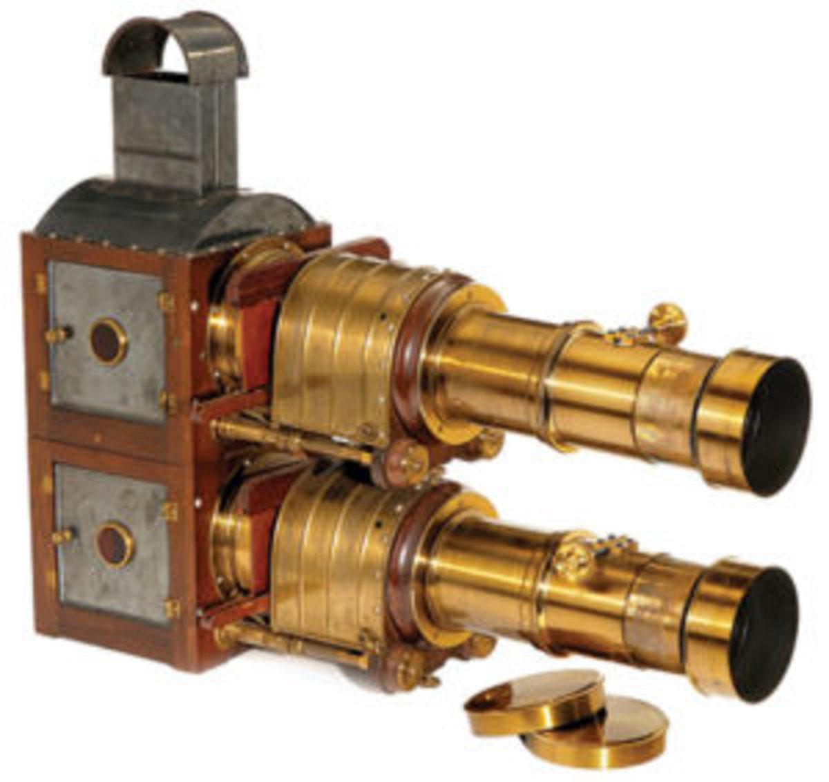 antique technology - bilunial magic lantern