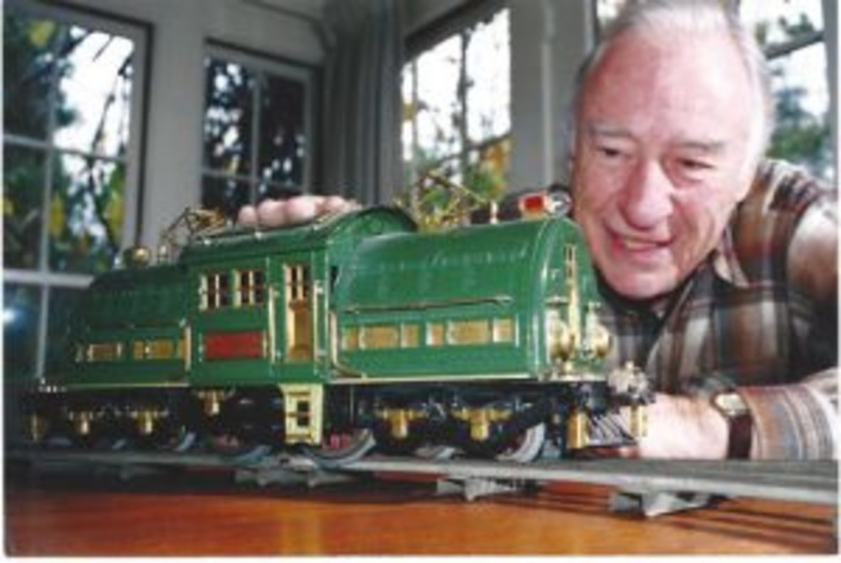 Warren Heid and a train