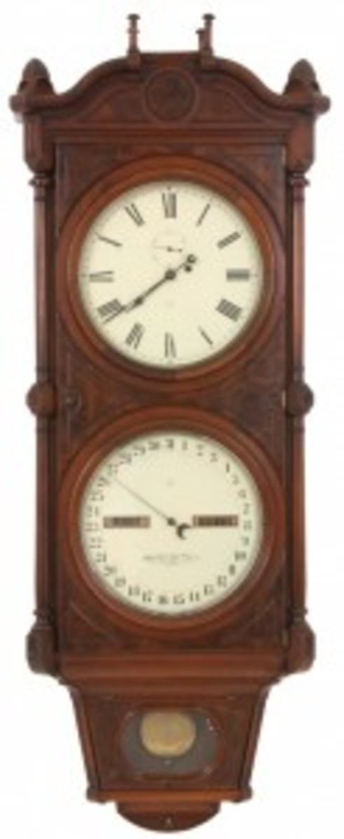 No. 8 calendar clock