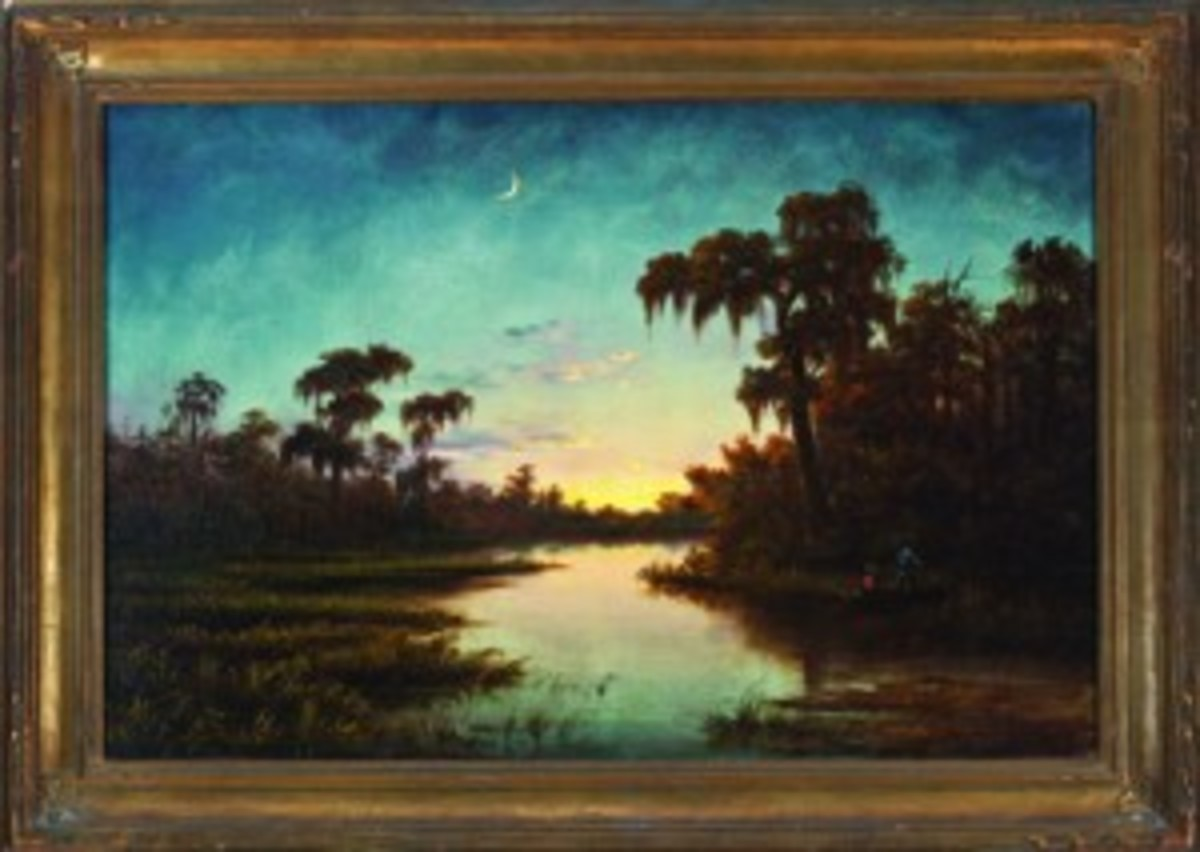 """Crescent Moon Over the Bayou"""