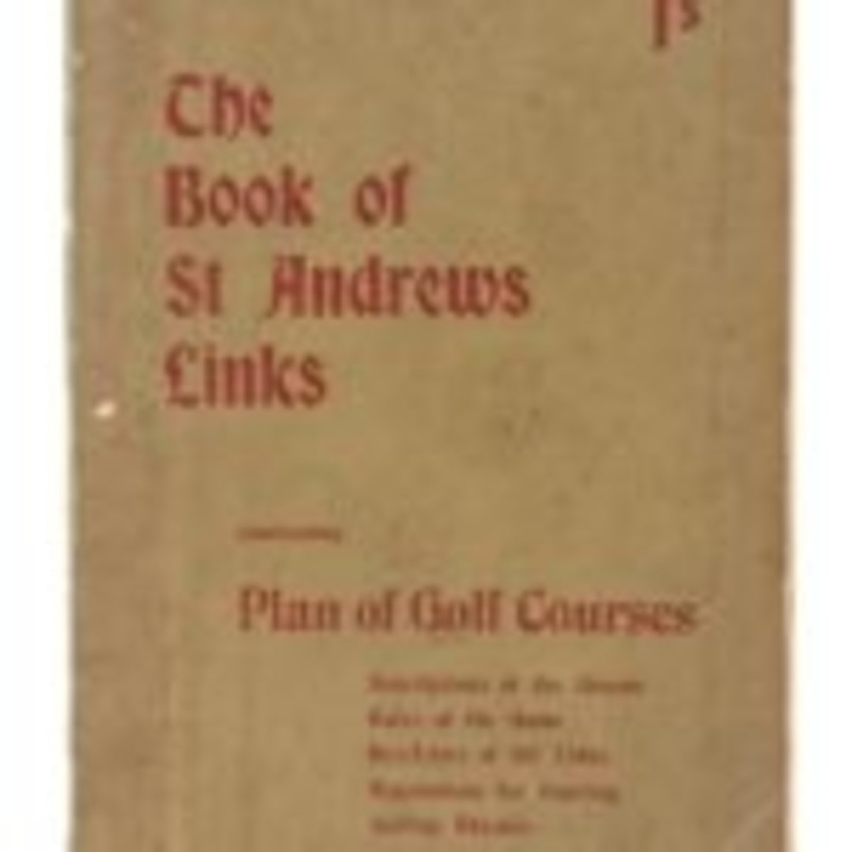 The Book of St Andrews Links