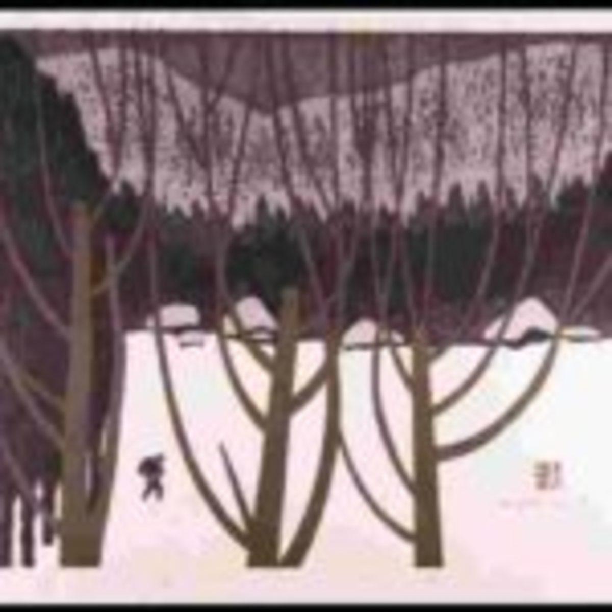 Kiyoshi Saito (1907-1997), Winter in Aizu #17
