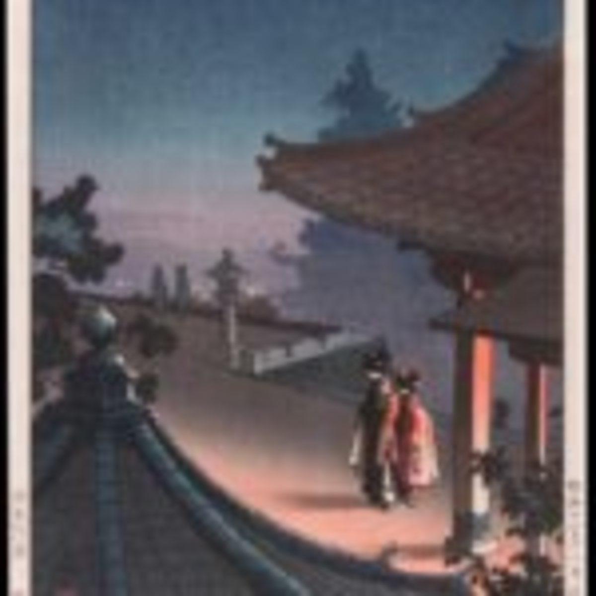 Tsuchiya Koitsu (1870-1949), Geisha by Lantern Light