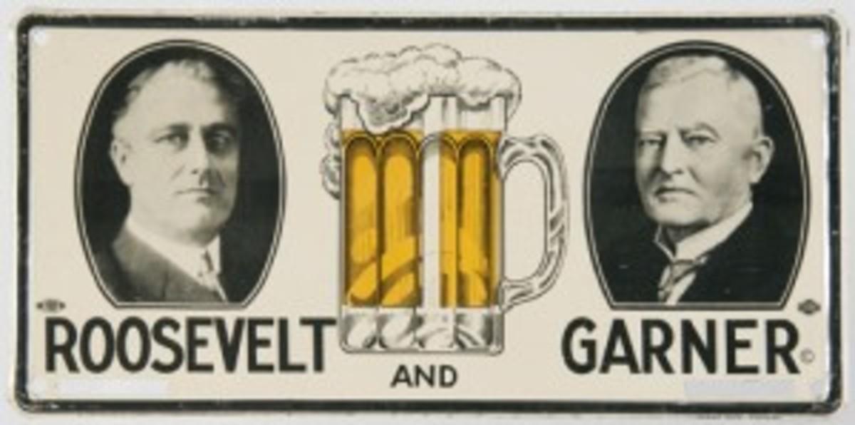 FDR beer mug license plate