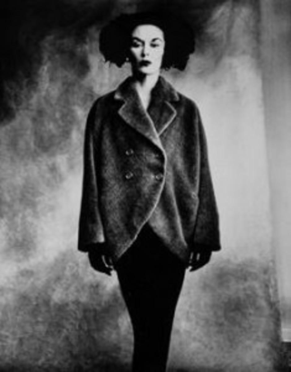 Woman in Balenciaga coat