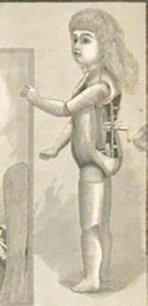Edison Doll showing phonograph. Public Domain.