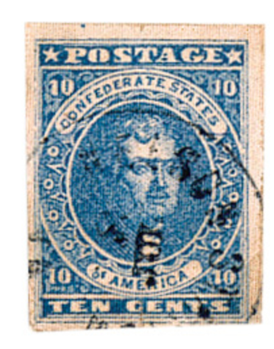 Ten cent Confederate States of America postage stamp. Submitted photos