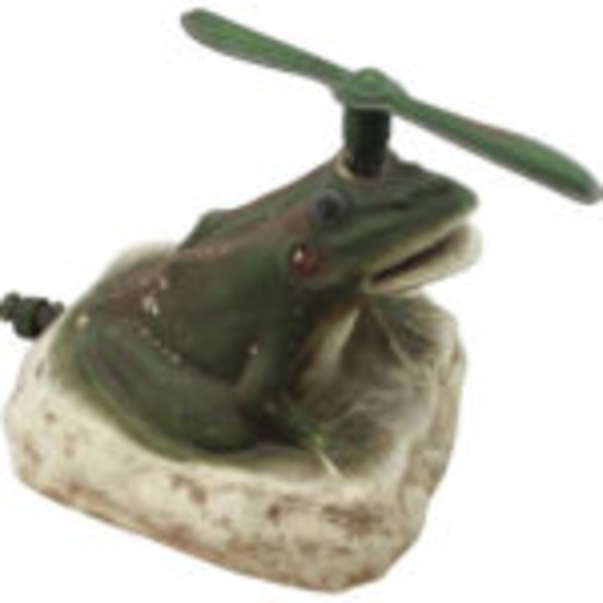 ceramic figural frog lawn sprinkler