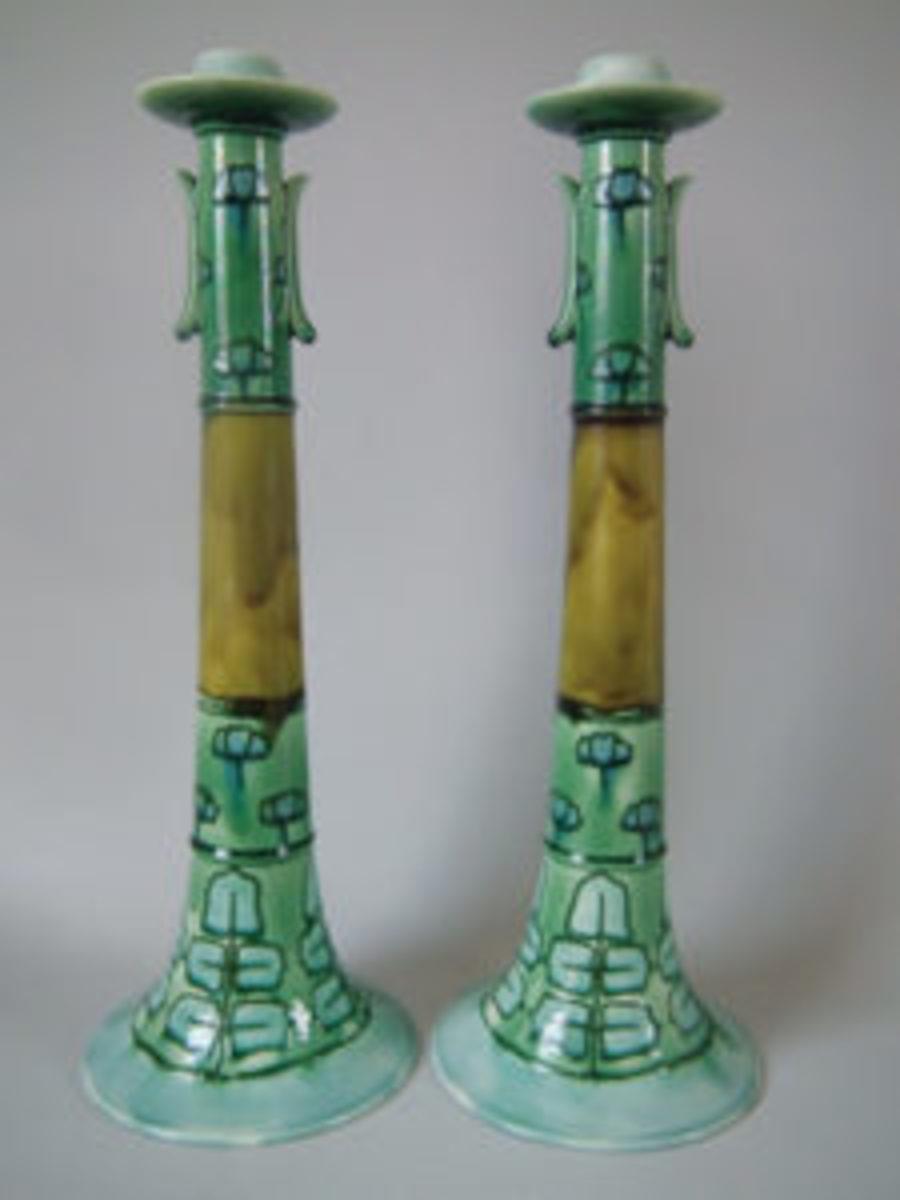 MINTONS candlesticks