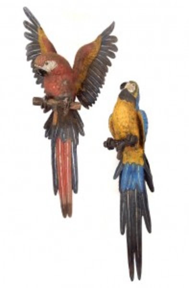 bronze parrots