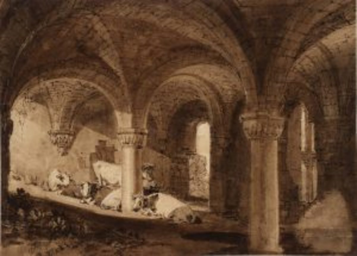 The Crypt of Kirkstall Abbey circa 1806-7 Joseph Mallord William Turner 1775-1851 Accepted by the nation as part of the Turner Bequest 1856 http://www.tate.org.uk/art/work/D08142
