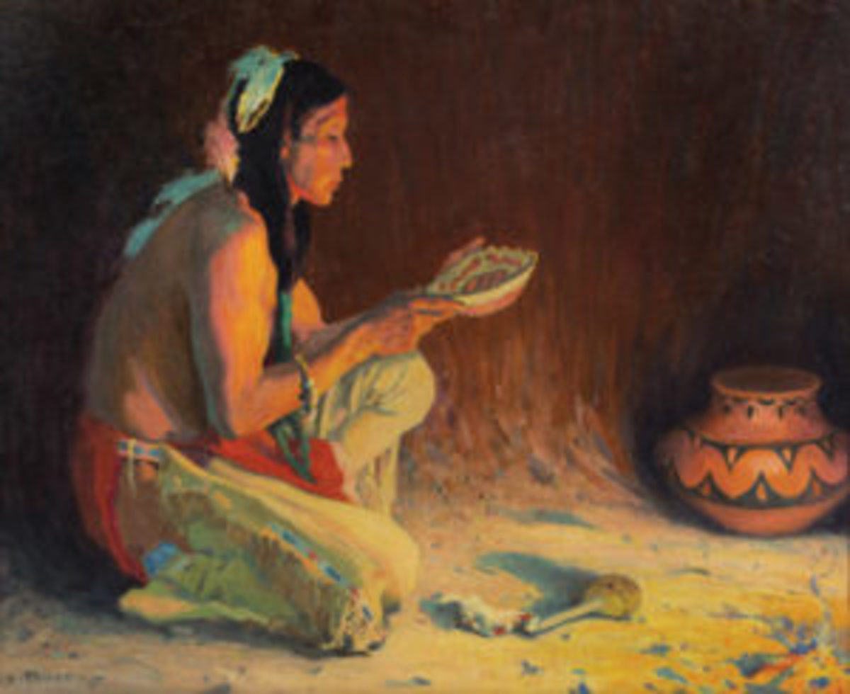Sacred Rain Bowl painting