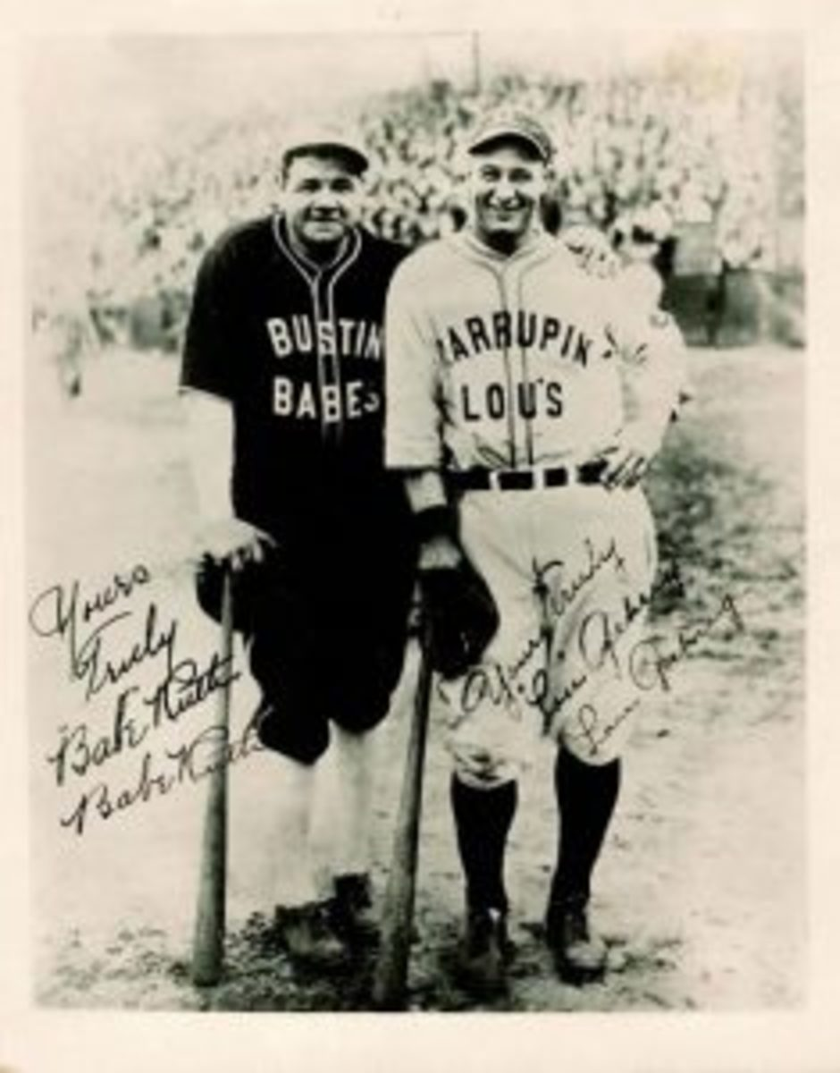 Ruth and Gehrig barnstorming tour photo
