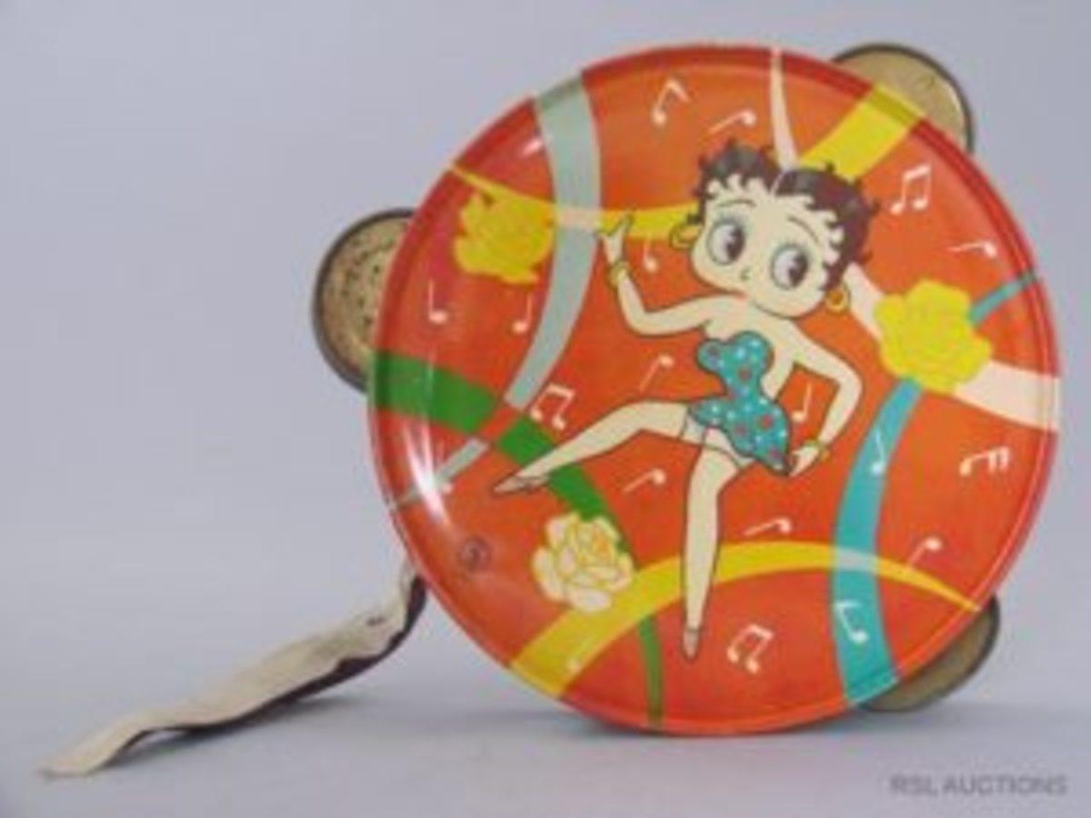 Betty Boop toy tambourine