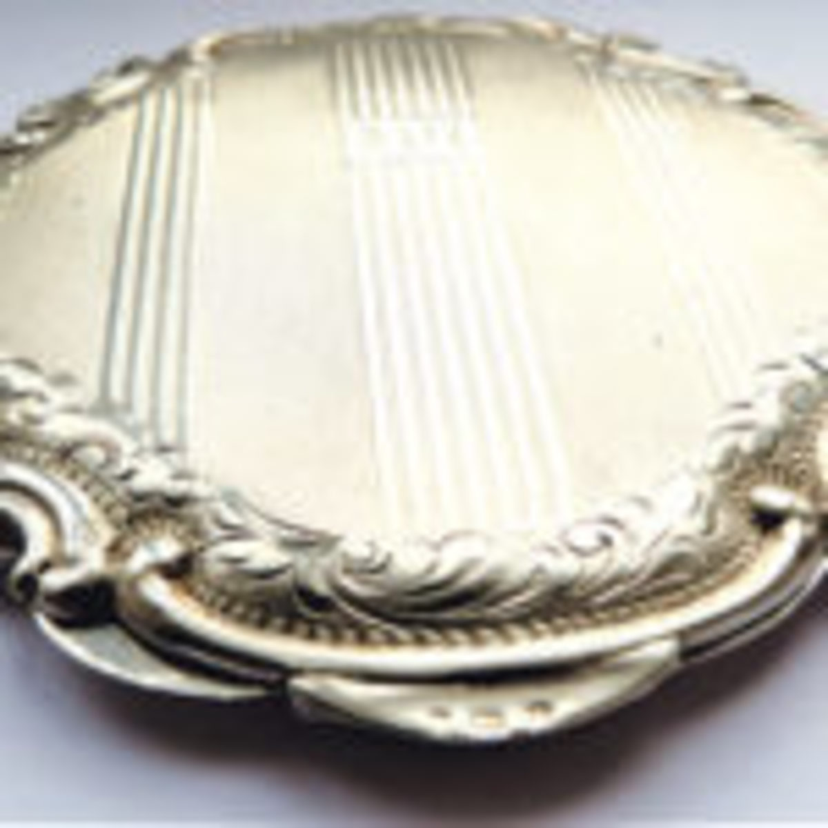 Solid, high quality silver, hallmarked Czechoslovakian compact