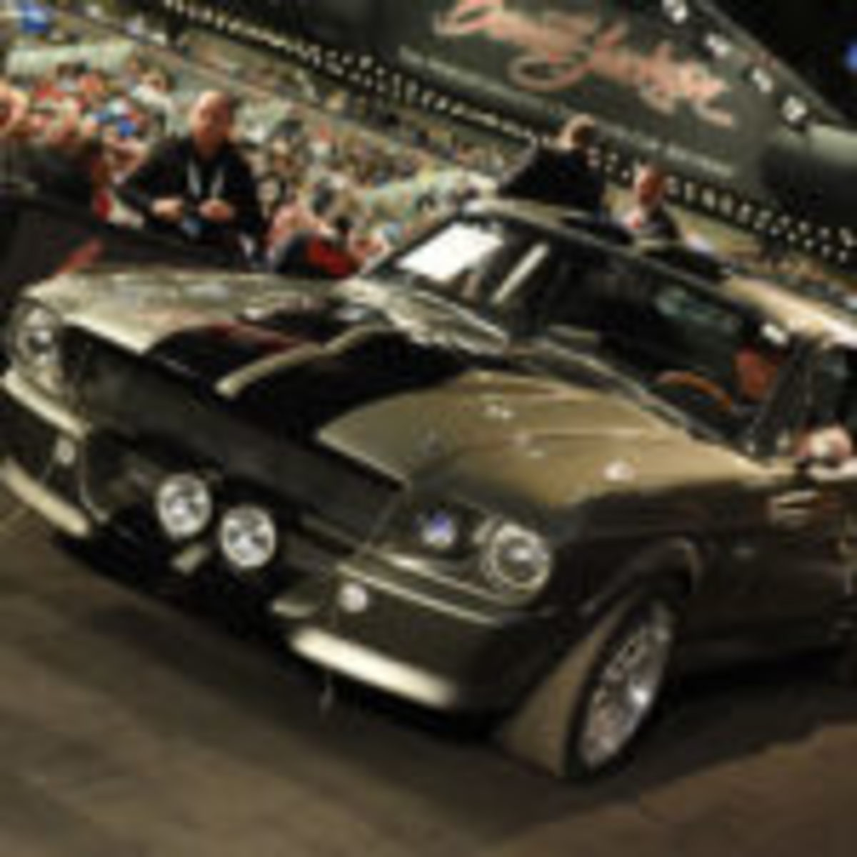 "1967 Ford Mustang Custom Fastback, Eleanor, from the movie ""Gone In 60 Seconds,"" $385,000. Photo courtesy Barrett-Jackson"