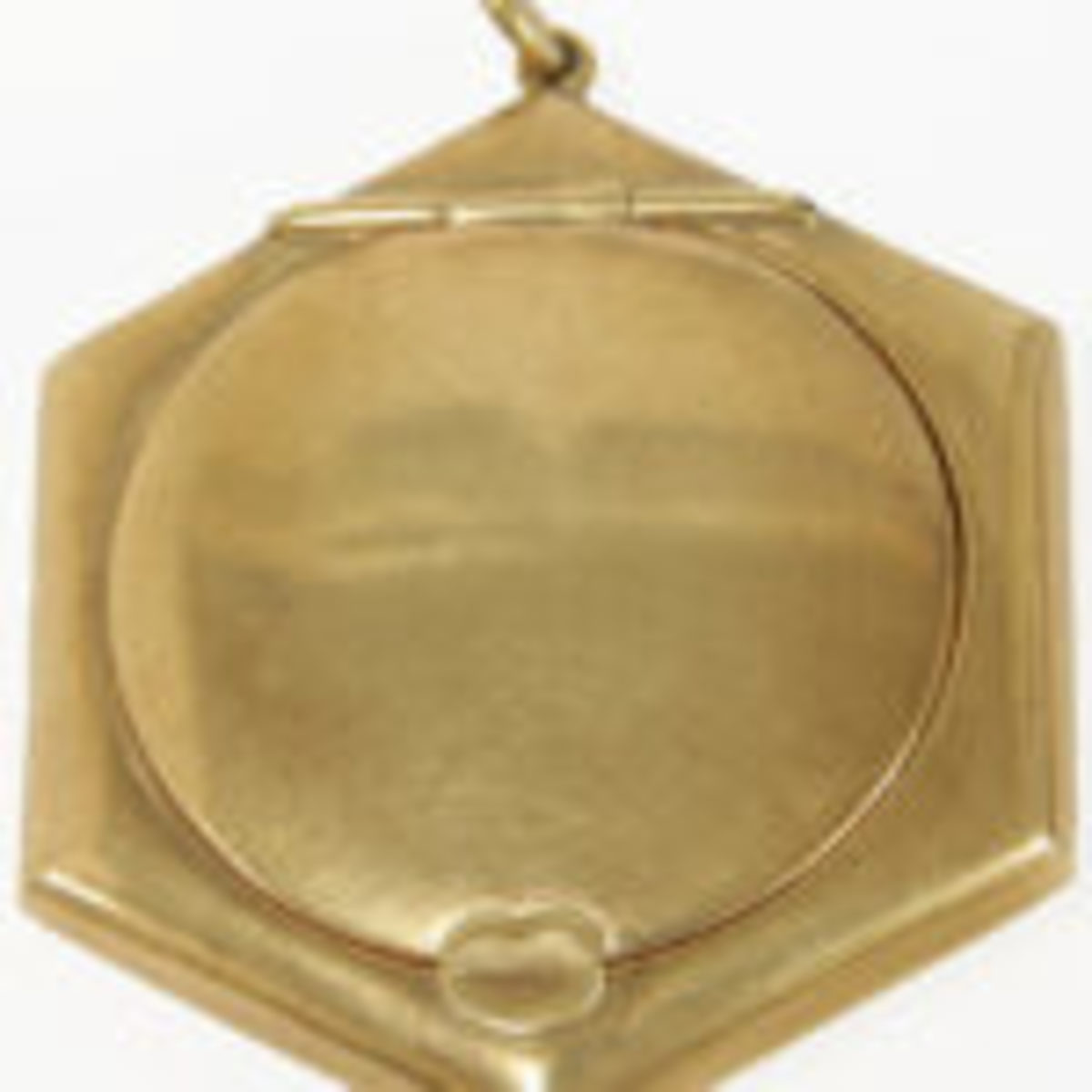 Hexagonal compact with hinged lid