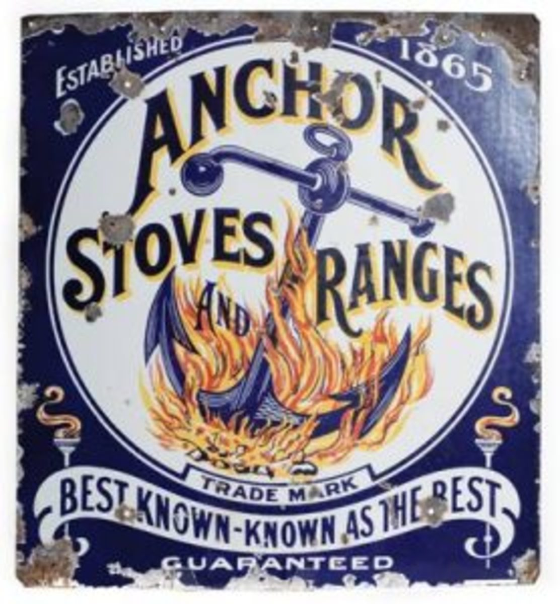 Anchor Stoves and Ranges sign