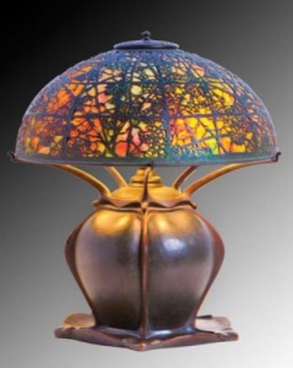 Tiffany Lamp grapevine shade