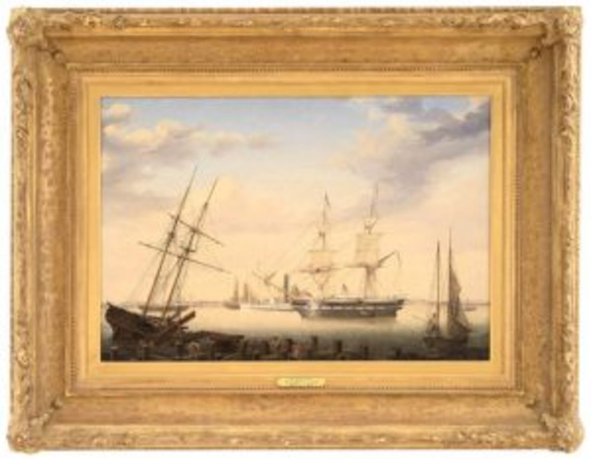 Fitz Henry Lane's New Bedford Harbor oil