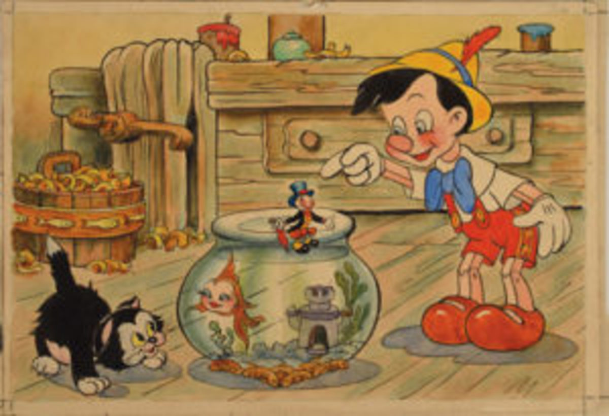 Pinocchio and friends art
