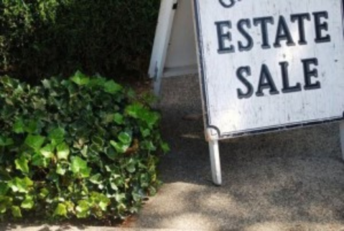 Estate sale selling