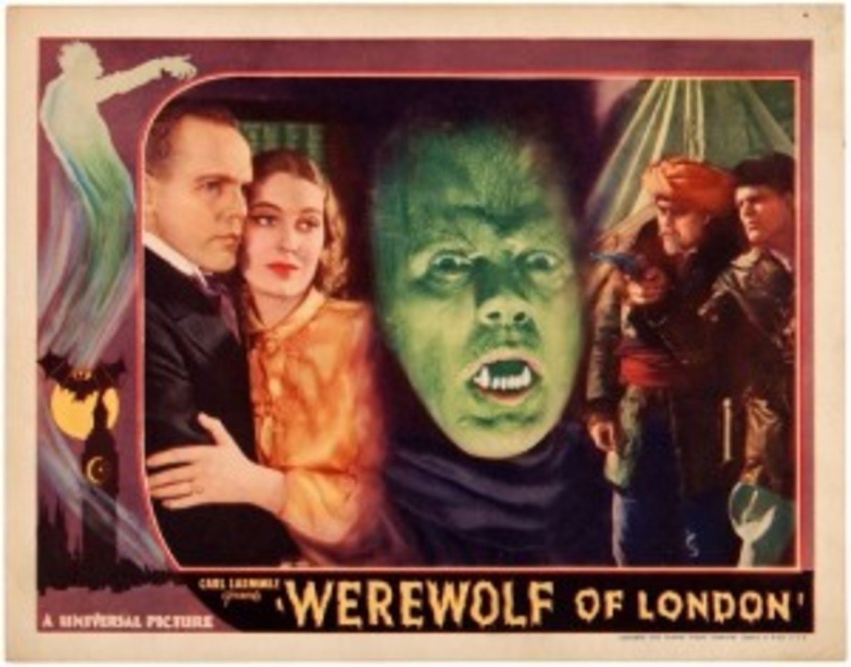 'Werewolf of London' 1935 lobby card, rarest of six different Werewolf lobby cards entered in the auction, est. $5,000-$10,000. Hake's image