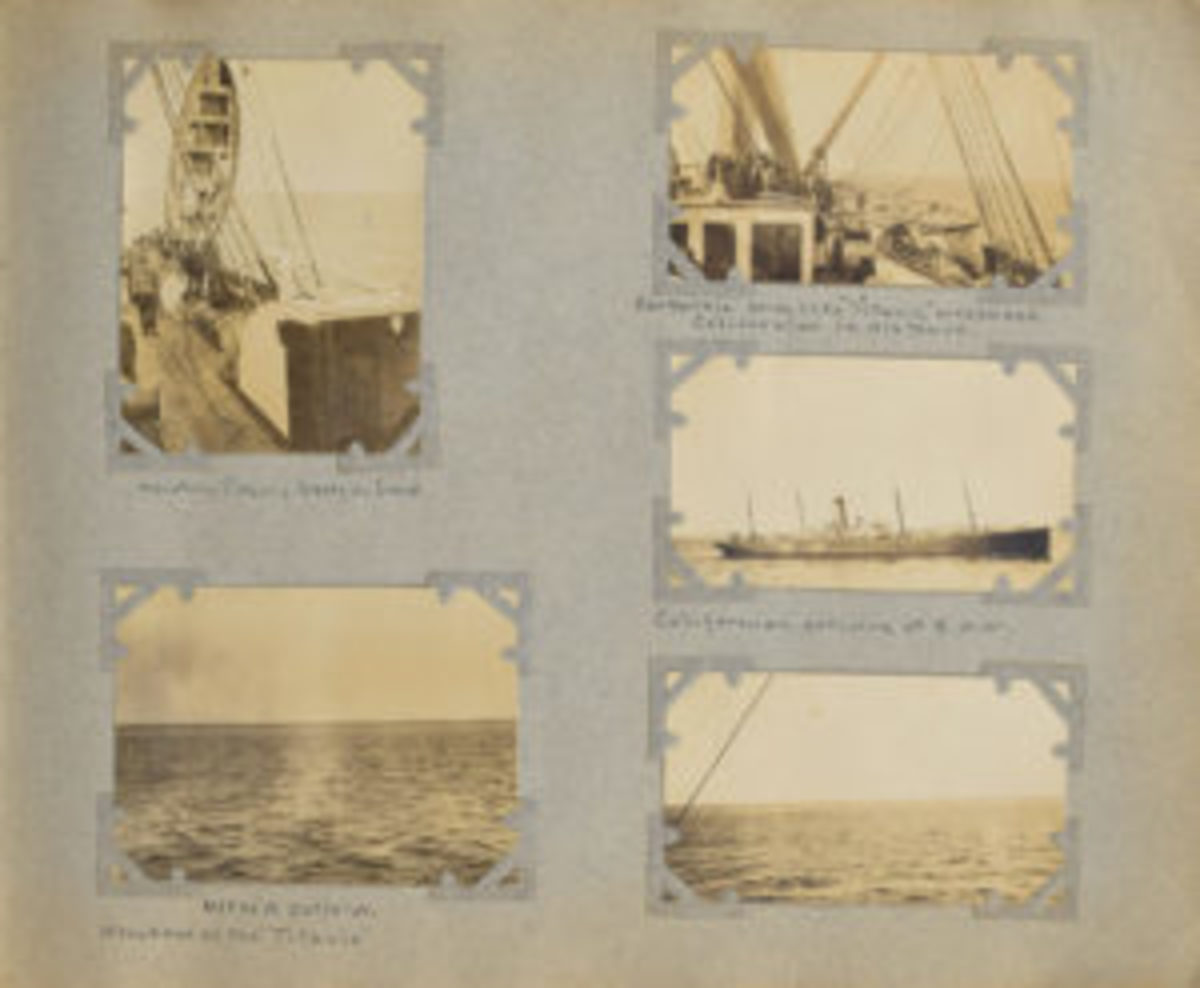Photos of SS Californian coming to area of Titanic disaster