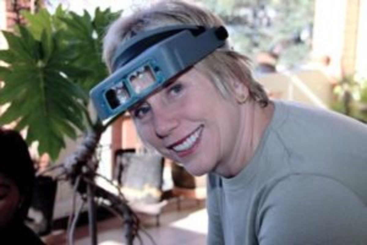 Nancy Schuring with visor loop