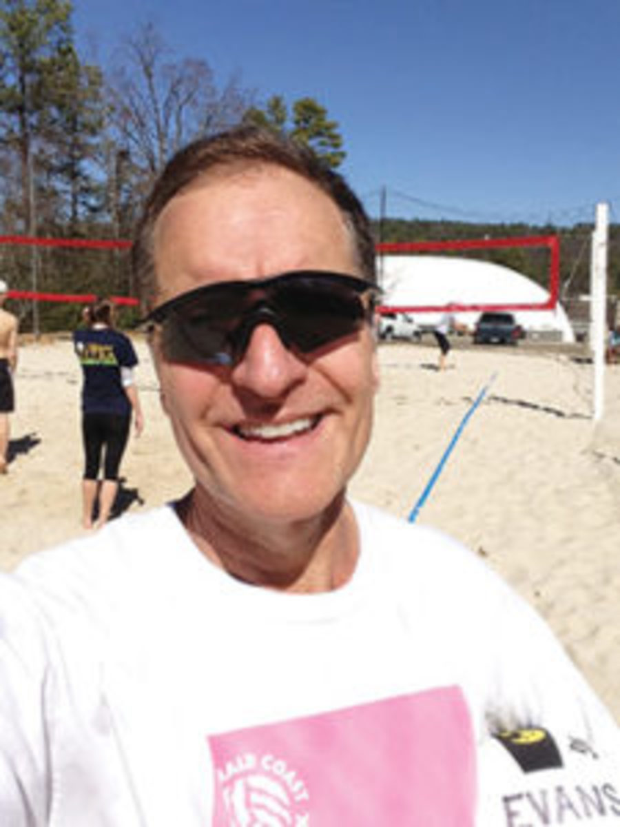 Steve Evans, collector, author, volleyball player.