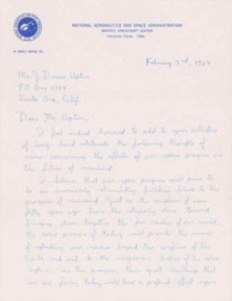 Buzz Aldrin-written letter