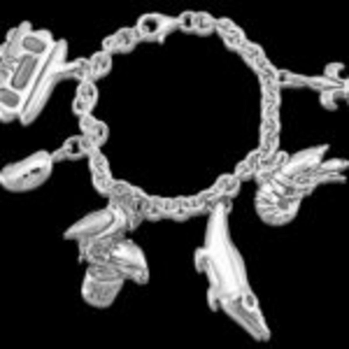 Mignon Faget New Orleans charm bracelet, sterling silver, available at https://www.mignonfaget.com/shop/product/0836.html. Courtesy https://www.mignonfaget.com/
