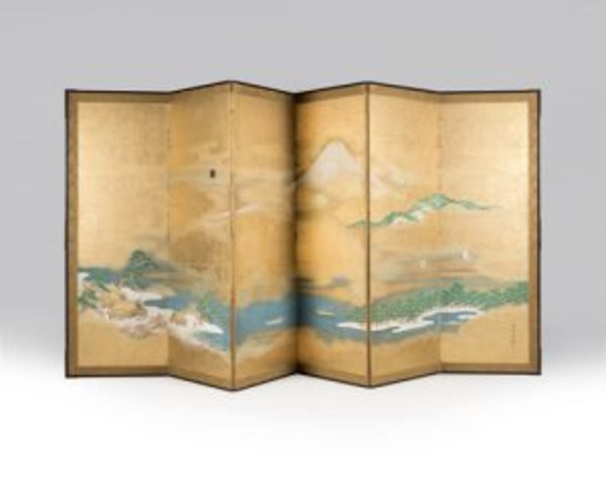 byōbu floor screen