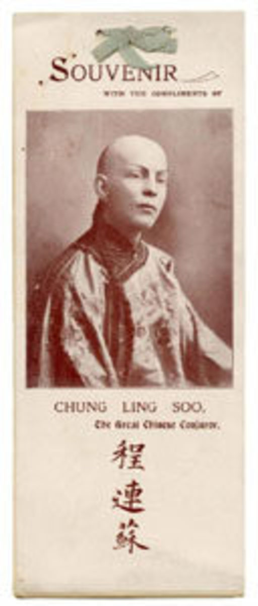 A c. 1900s Chung Ling Soo satin tied souvenir booklet more than doubled its high estimate, selling for $2,880.