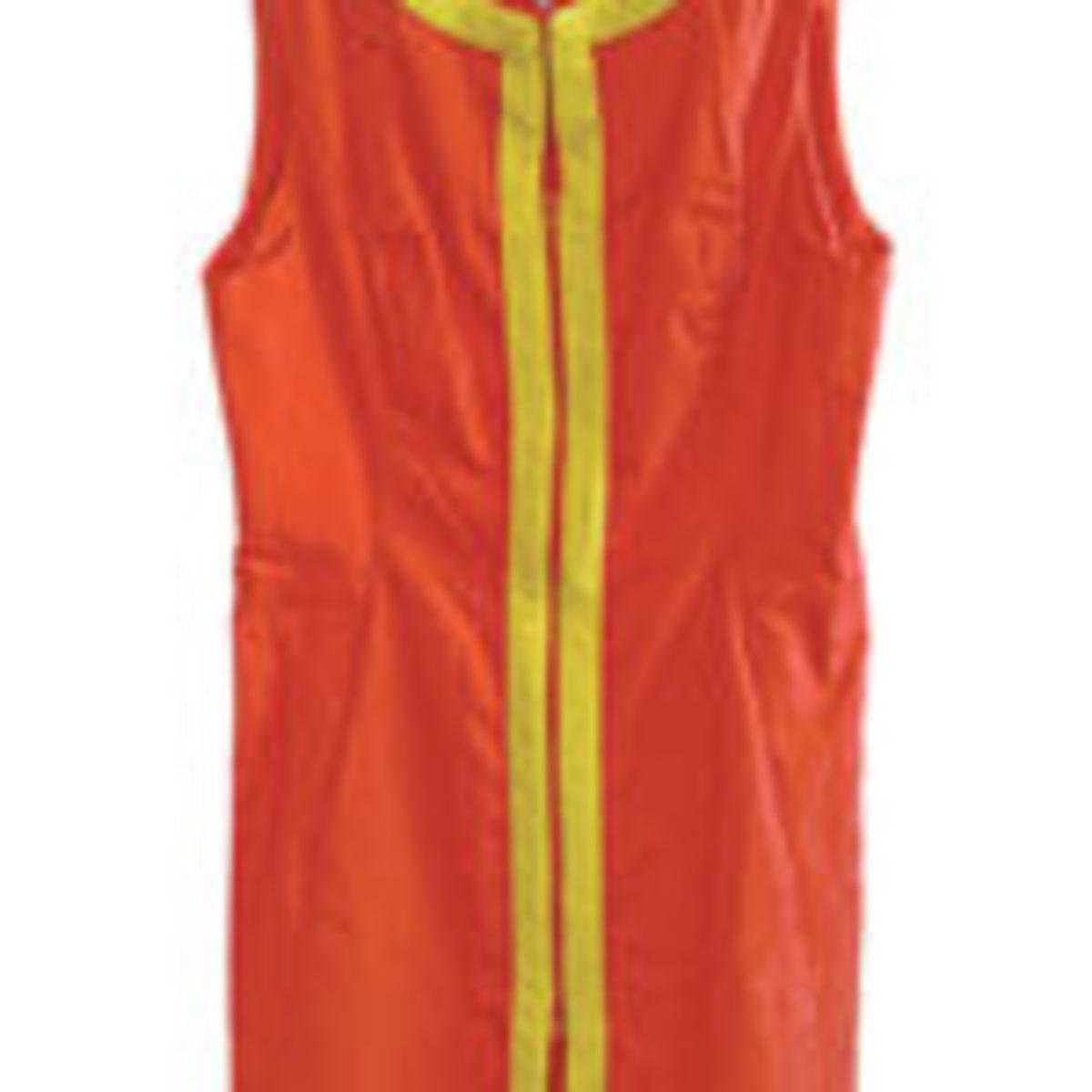 Flight attendant's dress.