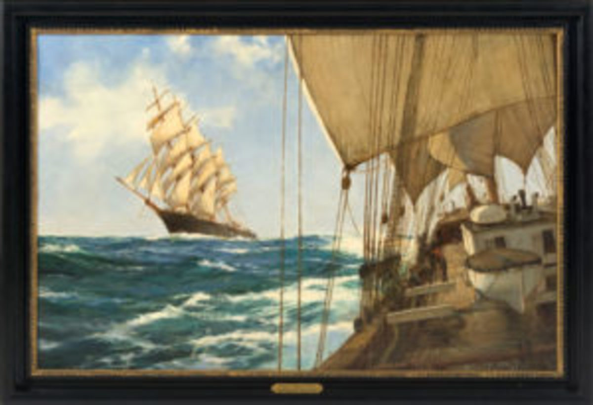 Ships That Pass painting