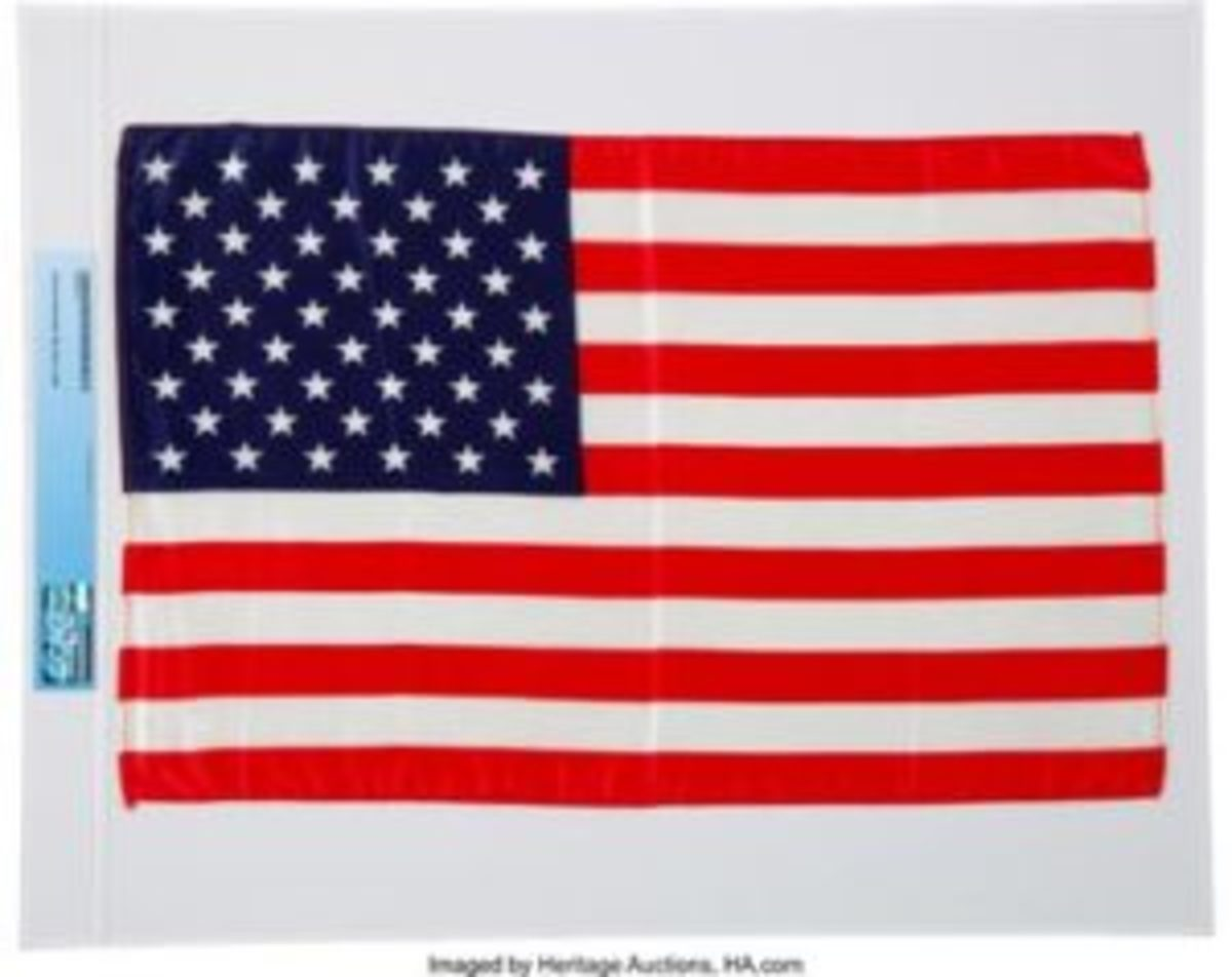 space flown flag from Armstrong Family Collection
