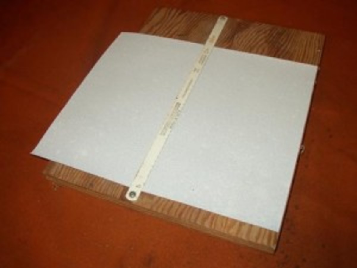 Sand paper cutting jig